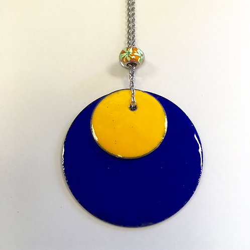 Solar Eclipse Enamel Necklace