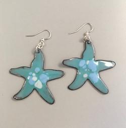 Vitreous Enamel Earrings • Starfish Caribbean