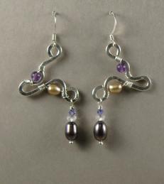 Sterling & Pearl Earrings