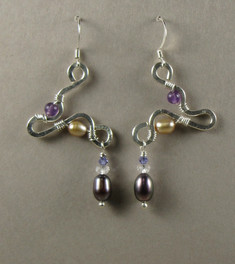 Sterling & Pearl Earrings