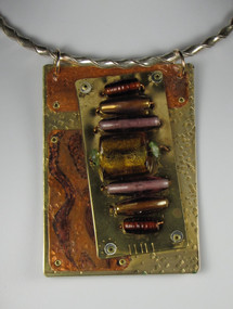 Copper Bronze & Lamp Work Bead Choker
