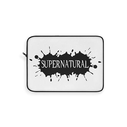 Supernatural Ipurgatory Title Splat Laptop Sleeve