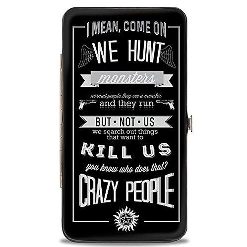 Supernatural Ipurgatory We Hunt Crazy People Hinge Wallet
