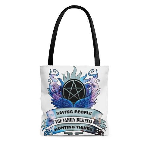 Supernatural Saving People Family Business Crest Tote Bag