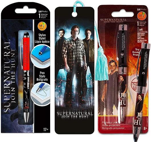Supernatural Ipurgatory Join the Hunt Book Mark and 2 Pack of Pen Sets