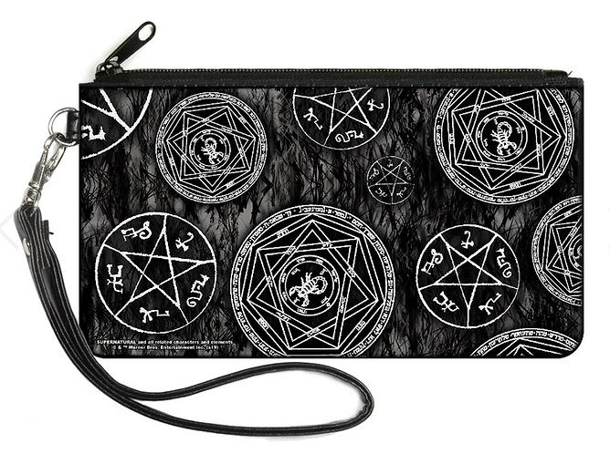 Supernatural Ipurgatory Devil's Trap Icon Zipper Wallet