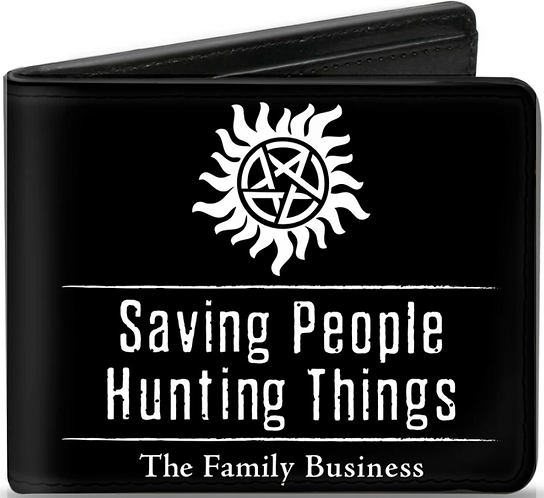 Supernatural Ipurgatory Saving People Symbol Icon Bi-Fold Wallet