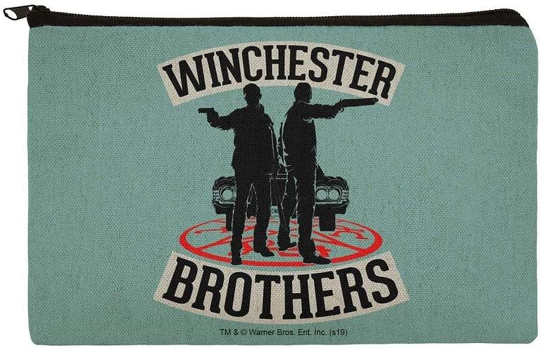 Supernatural Winchester Bros Blue Canvas Pencil Organizer Pouch