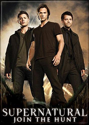 Supernatural Ipurgatory Trio Castiel Sam and Dean Winchester Magnet