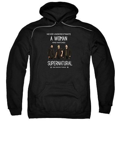 Supernatural Ipurgatory When A Woman Watches Hoodie Sweatshirt