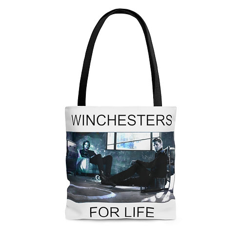 Supernatural Winchesters For Life Tote Bag