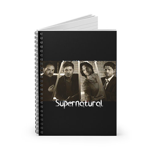 Supernatural Castiel Crowley Dean Sam Spiral Ruled Notebook