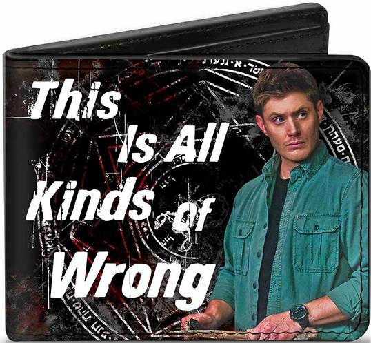 Supernatural Ipurgatory Dean All Kinds Of Wrong Bi-Fold Wallet