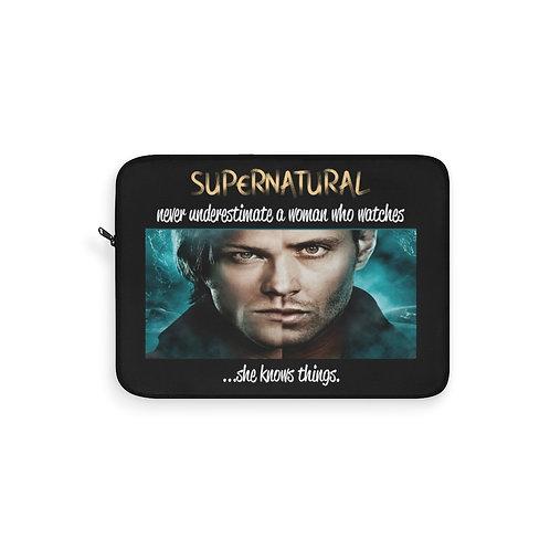 Supernatural Never Underestimate Split Face Laptop Sleeve