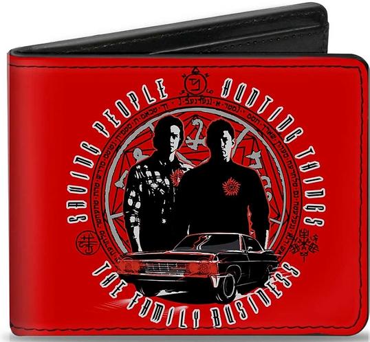 Supernatural Ipurgatory Saving People Brothers Red Bi-Fold Wallet