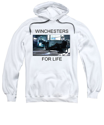 Supernatural Ipurgatory Winchesters For Life White Hoodie Sweater