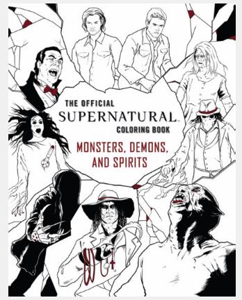 Supernatural Ipurgatory Monsters Demons Spirits Coloring Book
