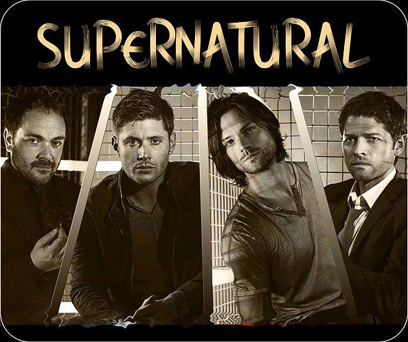 Supernatural Ipurgatory Familia Castiel Crowley Dean Sam Title Mousepad