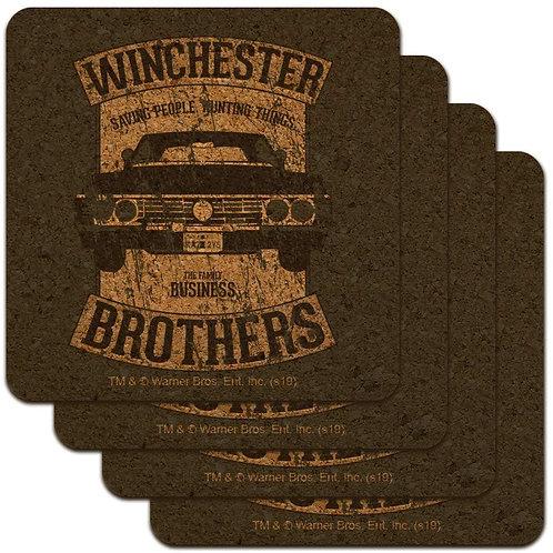 Supernatural Ipurgatory Winchester Brothers Impala Cork Set of 4 Coasters