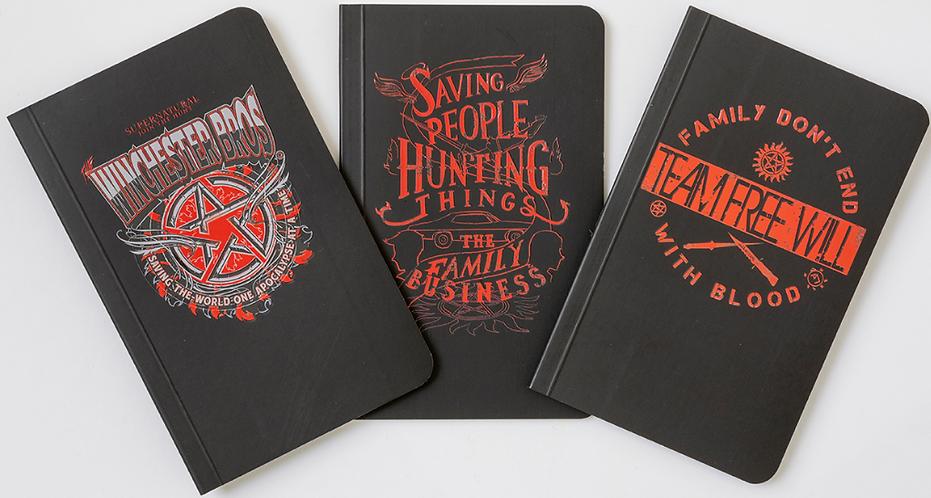 Supernatural Pocket Notebook Collection Set of 3