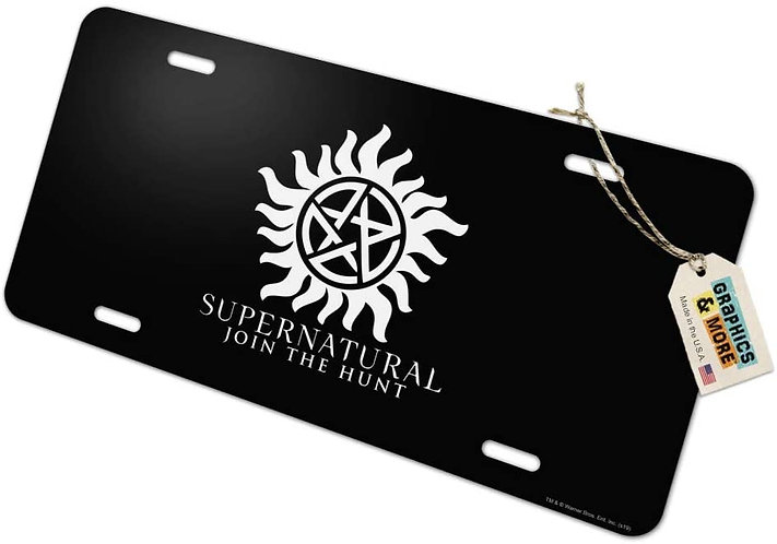 Supernatural Ipurgatory Anti-Possession Logo Title License Plate