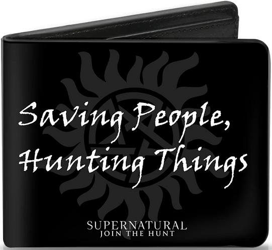 Supernatural Ipurgatory Saving People Hunting Things Symbol Bi-Fold Wallet