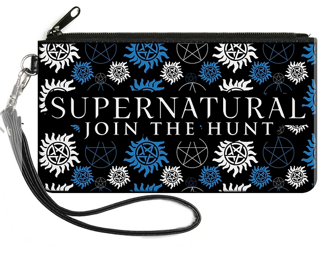 Supernatural Ipurgatory Join the Hunt Icons  Zipper Wallet