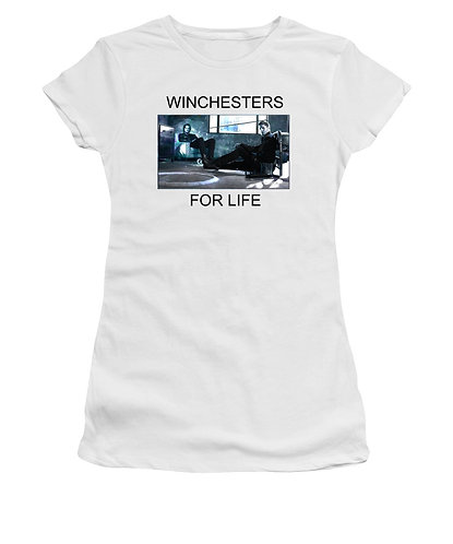 Supernatural Ipurgatory Winchesters For Life Women's White Tank Top or T-Shirt