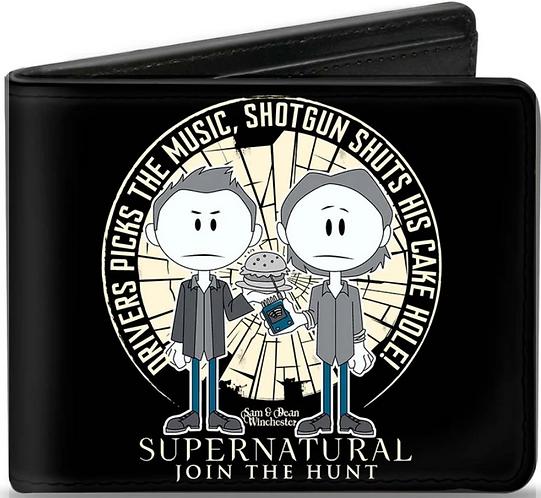 Supernatural Ipurgatory Dean Sam Cartoon Burger Bi-Fold Wallet