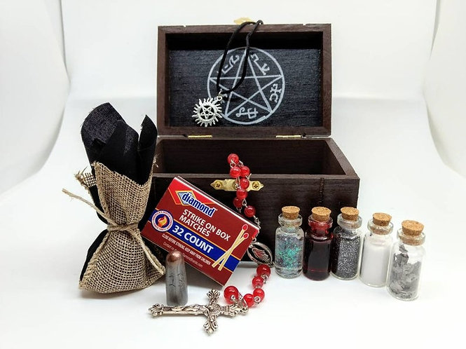 Supernatural Ipurgatory Inspired Handmade Mini Hunter Box Collection