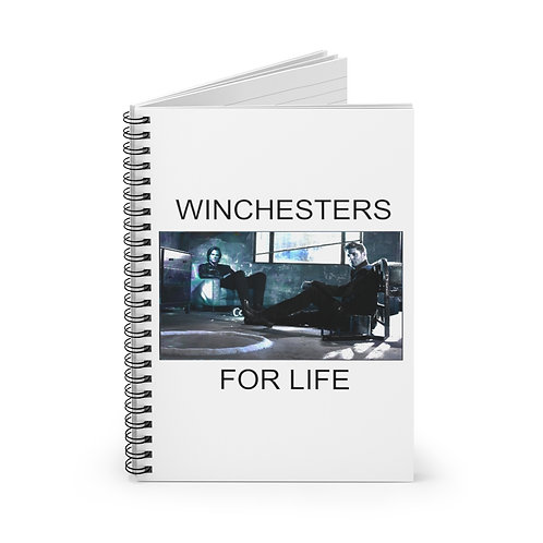 Supernatural Winchesters For life Spiral Ruled Notebook