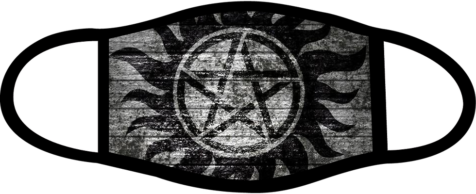 Supernatural Ipurgatory Anti-Possession Symbol Gray Mask