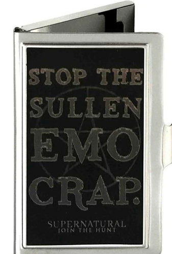 Supernatural Ipurgatory Stop The Sullen Emo Crap Business Cardholder