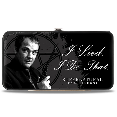 Supernatural Ipurgatory Crowley I Lied I Do That Hinge Wallet