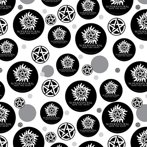 Supernatural Ipurgatory Anti-Possession Pentagram Symbols White Wrapping Paper