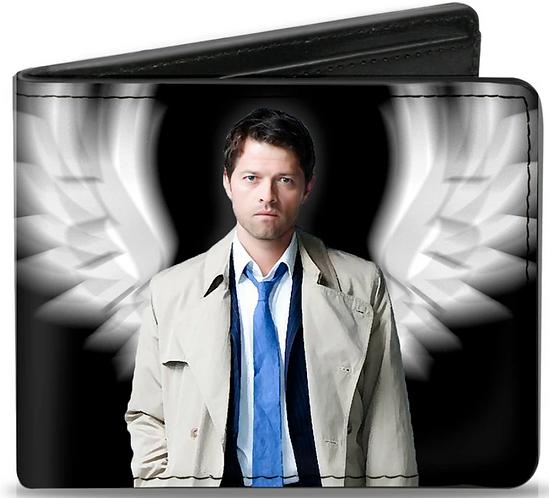 Supernatural Ipurgatory Castiel White Jacket Wings Bi-Fold Wallet
