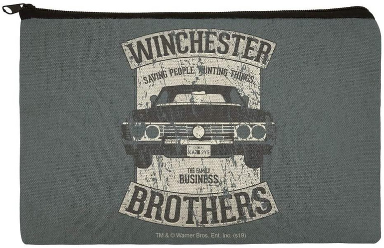 Supernatural Winchester Brothers Impala Canvas Pencil Organizer Pouch
