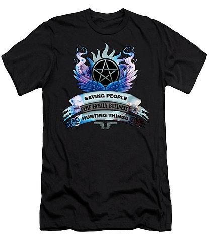 Supernatural Ipurgatory Saving People Crest Men's T-Shirt