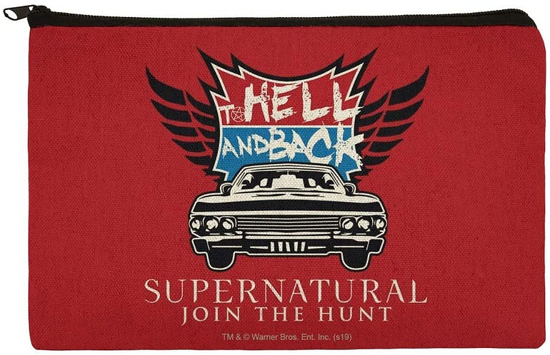 Supernatural Hell and Back Canvas Pencil Organizer Pouch
