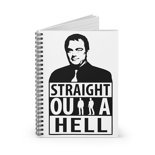 Supernatural Crowley Straight Outta Hell Spiral Ruled Notebook
