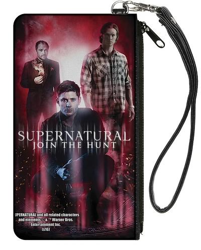 Supernatural Ipurgatory Trio Dean Sam Crowley Zipper Coin Purse