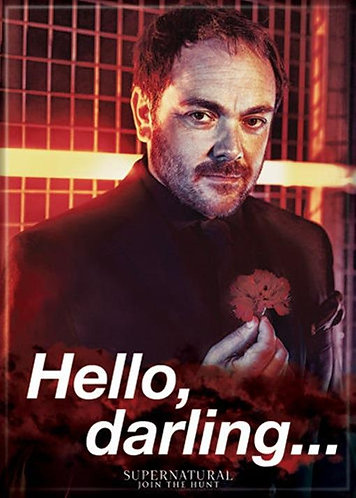 Supernatural Ipurgatory Crowley Hello Darling Magnet