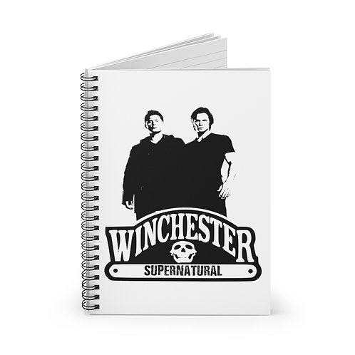 Supernatural Winchester Brothers Duo Spiral Ruled Notebook