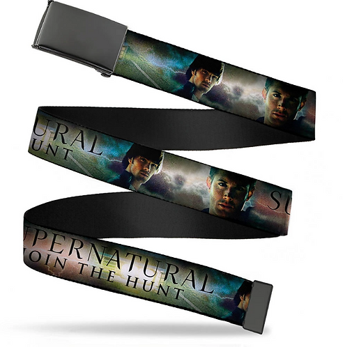 Supernatural Ipurgatory Join the Hunt Title Images Belt with Black Clasp