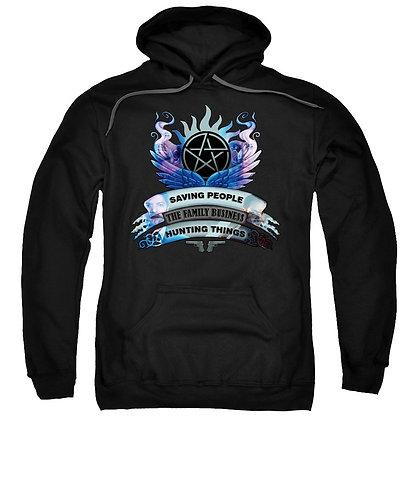 Supernatural Ipurgatory Saving People Crest Hoodie Sweatshirt