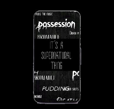 Supernatural Ipurgatory Its a Supernatural Thing Words Samsung Phone Wallet Case