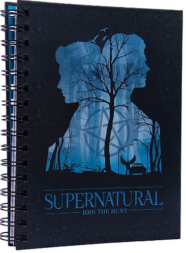 Supernatural Blue Silhouette Spiral Notebook
