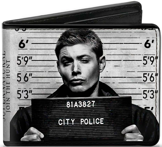 Supernatural Ipurgatory Dean and Sam City Police Mug Shots Bi-Fold Wallet