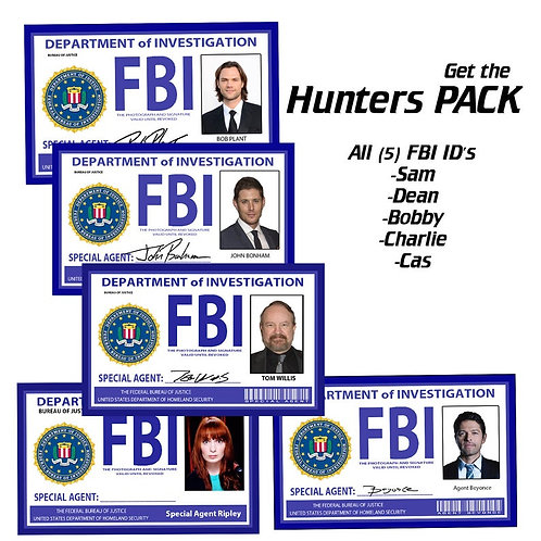Supernatural Ipurgatory FBI Special Agent Badge Replicas