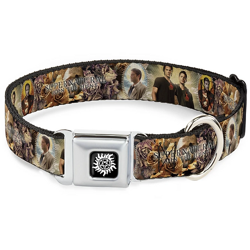 Supernatural Ipurgatory Castiel Dean Sam Crowley Dog Collar with Metal Clip